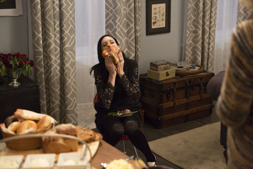 "ODD MOM OUT -- ""Fasting and Furious"" Episode 202 -- Pictured: Jill Kargman as Jill -- (Photo by: Christopher Saunders/Bravo)"